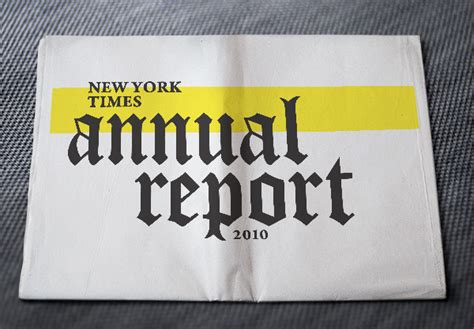 new york times report reveals the new york times annual report on behance