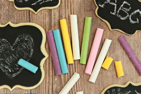 edible candy chalk cookie chalkboards
