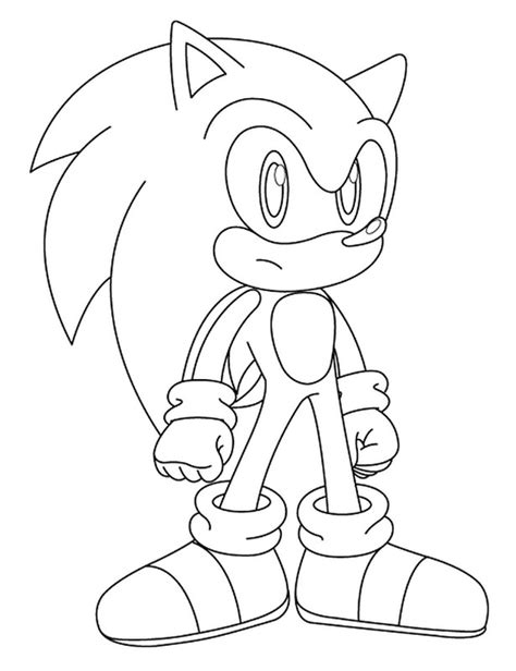 super sonic coloring pages to print