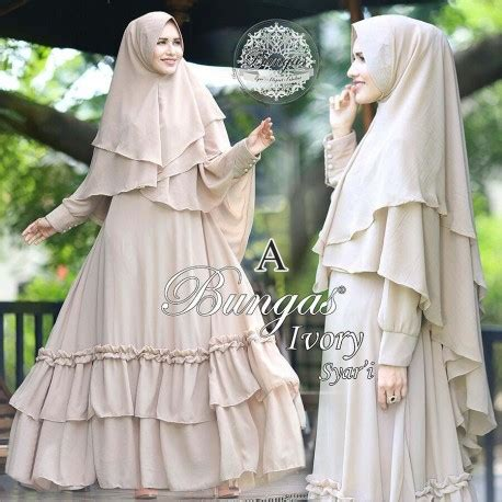 Baju Muslim Gamis Anak Premium Haihai Ga 04 Size 10 Murah ivory a baju muslim gamis modern