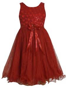 Jean girls 7 16 red sequin embellished to glittered mesh overlay dress