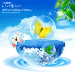 butterfly psd of water resources of the earth material