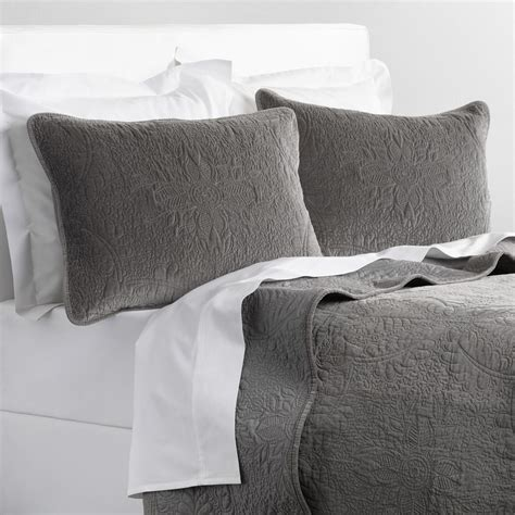 velvet bedding gray velvet bedding collection world market