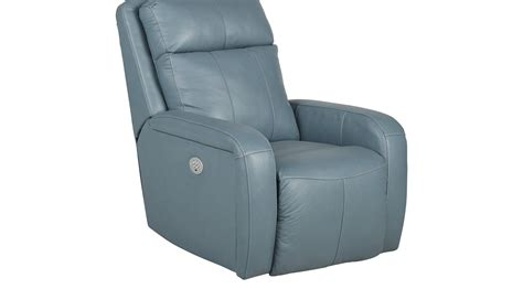 Blue Leather Recliner Taranto Blue Leather Power Recliner Reclining