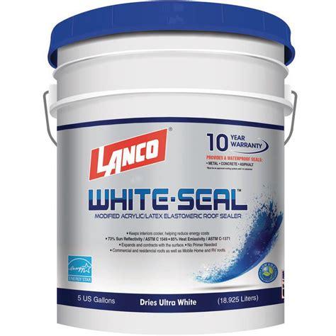 lanco  gal white seal elastomeric roof coating rc