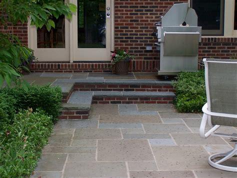 bluestone brick front entrance steps masonry patios bluestone patio and steps with brick risers deck ideas