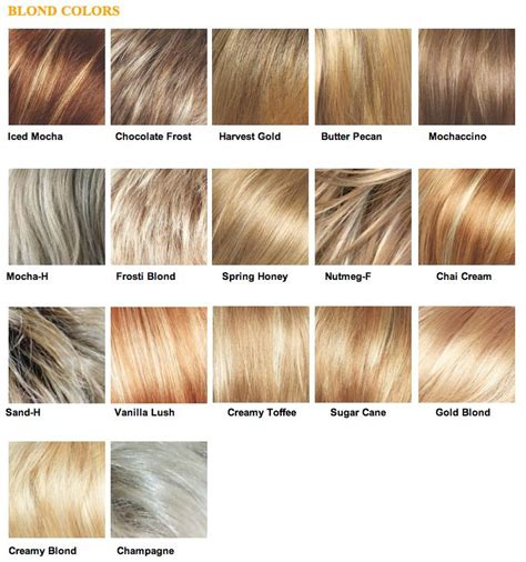 blonde different colours the 25 best blonde color chart ideas on pinterest