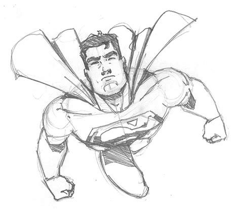sketchbook easy superman sketch by fabiocralves on deviantart