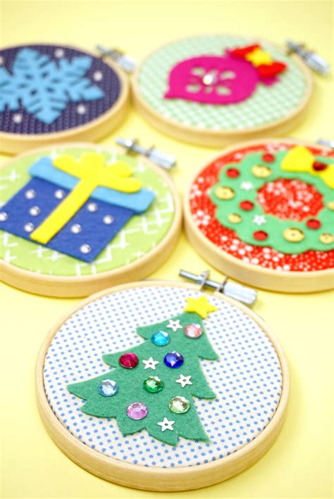 group christmas crafts diy ornaments easy craft happiness is