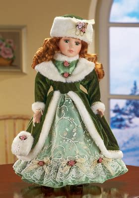 porcelain doll figurines winter kate collectible porcelain doll from collections etc