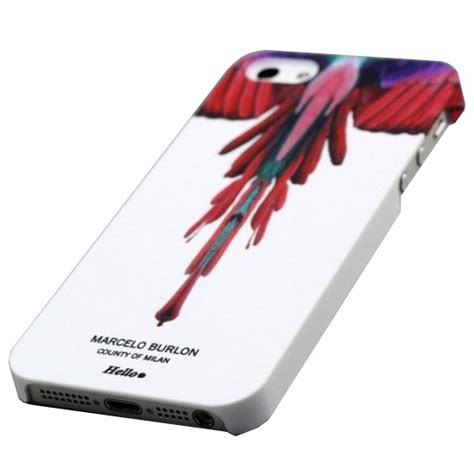 Marcelo Burlon 2 Tpu For Iphone 55sse No Color marcelo burlon feather for iphone 6 white jakartanotebook