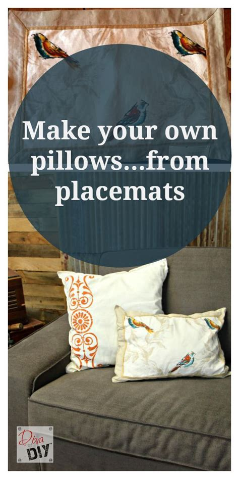 build your bedroom make your own stuff make your own make your own no sew throw pillows using placemats this
