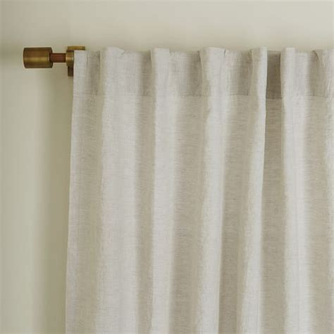 curtains linen belgian flax linen curtain natural west elm