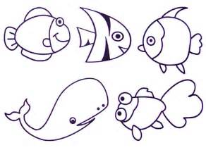 sea animals to draw colouring pages