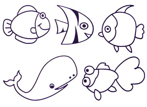 printable ocean animal templates ocean animals coloring pages free printable ocean animals