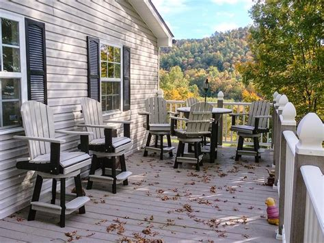 pub table with four chairs amish poly patio pub table set with four swivel chairs