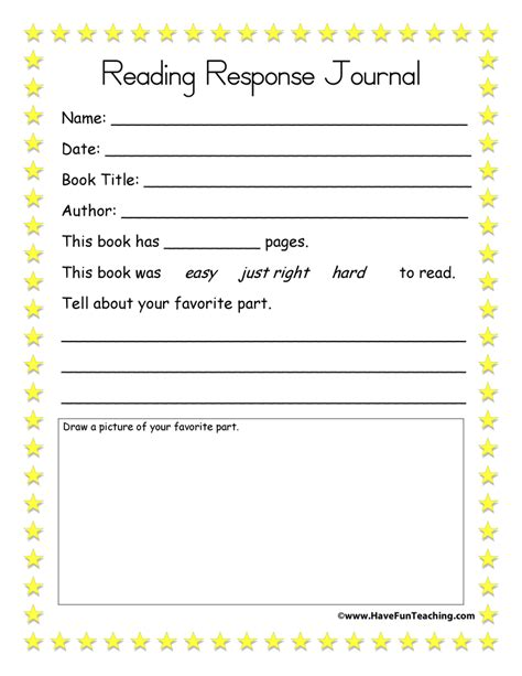 Reading Response Worksheets by Reading Response Worksheets Teaching