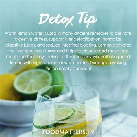 Detox Tips by Morning Ritual Detox And Lemon Water On