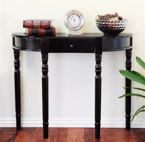 small half moon table with drawer small half moon oak narrow demilune console table with