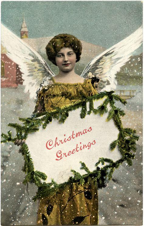 charming christmas  angel tag  graphics fairy