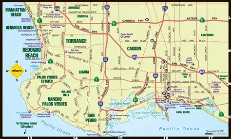 la map southbay map