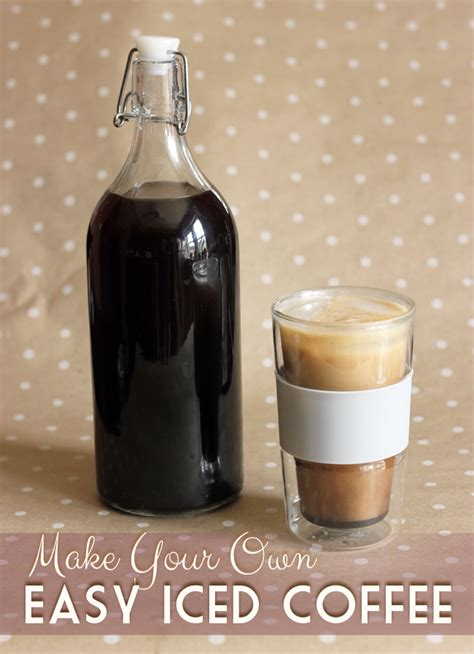 how to make iced coffee at home without a coffee maker