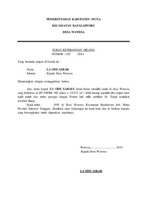 contoh surat pernyataan paspor hilang 28 images contoh surat