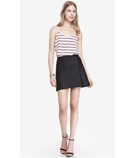 A Line Pleated Mini Skirt express a line minus the leather pleated mini skirt in