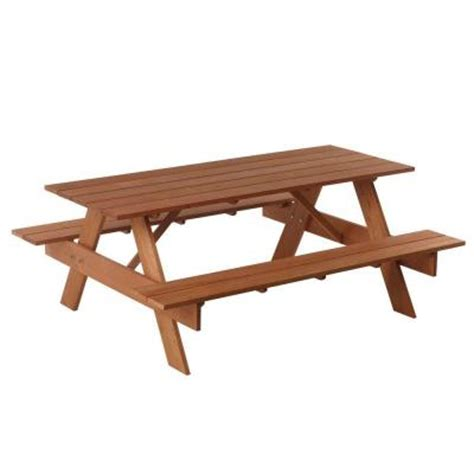 6 ft premium balau hardwood patio picnic table 227065
