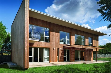 Contemporary Wooden House Design Larix Home Building Furniture And Interior Design