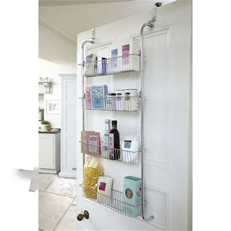 door hanging shelves the door shelf rack 4 tier hanging organiser chrome