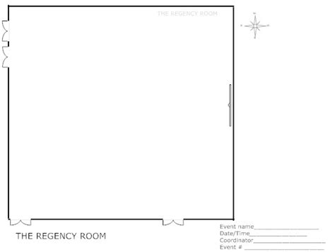 room floor plan template regency room niu events