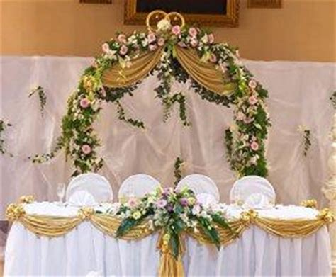 designers choice decor option wedding to go key west pictures of head table decorations lovetoknow