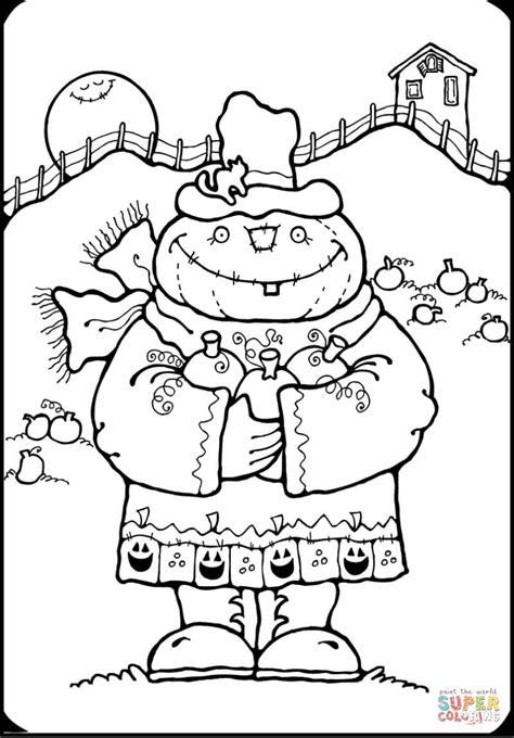 pumpkin scarecrow coloring pages pumpkin scarecrow coloring page free printable coloring