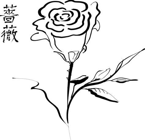tato tribal bunga mawar   clip art