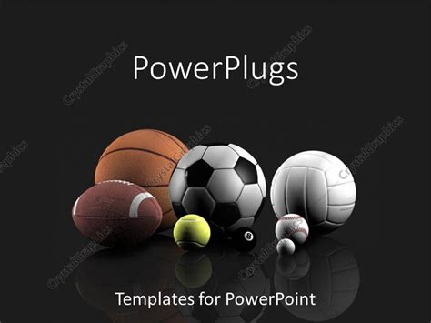 Powerpoint Template Basketball Football Tennis Volleyball Golf Pool And Baseball Sports Sports Template
