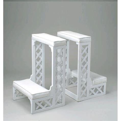 kneeling bench for wedding kneeling bench white lattice sgl pr rentals st petersburg