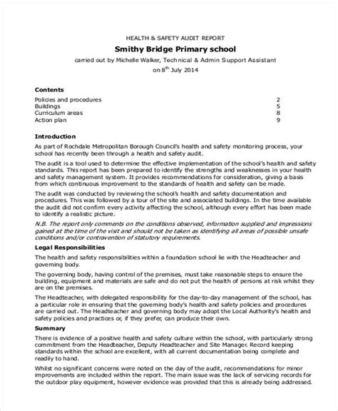health and safety inspection report template safety report templates 11 free word pdf format