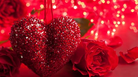 Glitter Valentine Wallpaper | full hd wallpaper valentines day glitter heart rose