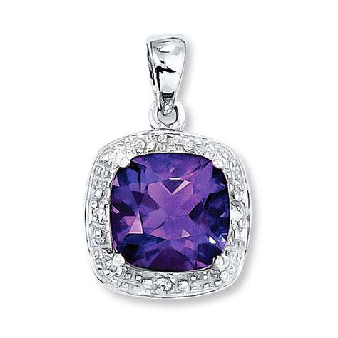 amethyst pendant accents sterling silver