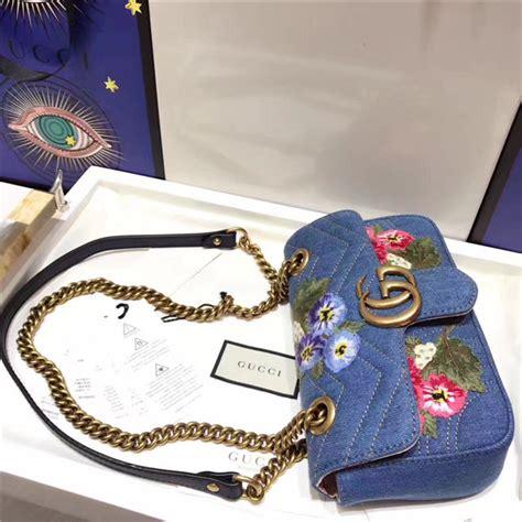 Gucci Speedy Vintage Mirror Quality Tas Bag Wanita gucci gg marmont mini bag denim flowers