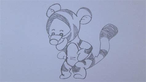 imagenes de winnie pooh bebe para dibujar c 243 mo dibujar a tigger de winnie the pooh youtube