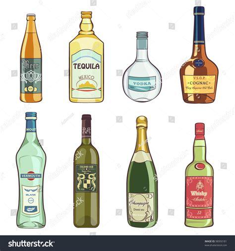 alcohol vector set alcohol bottles stock vector 98950181 shutterstock