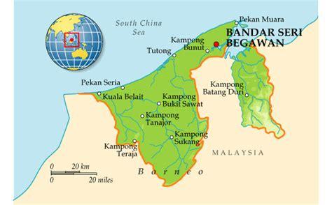 map  brunei planetologcom