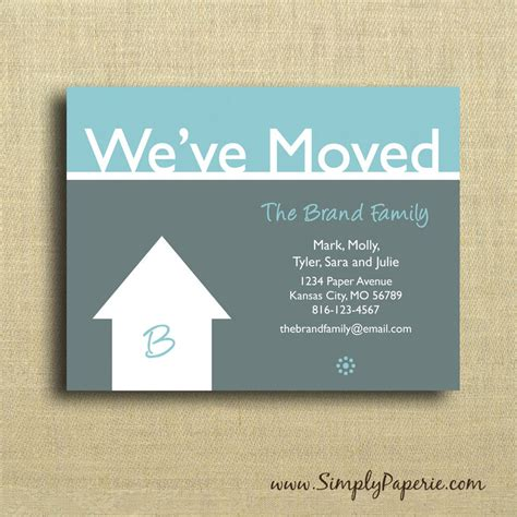 business moving cards templates we ve moved cards simply paperie
