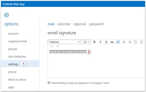 Outlook Office Login by How To Add Edit Delete Signature In Outlook Web App Owa