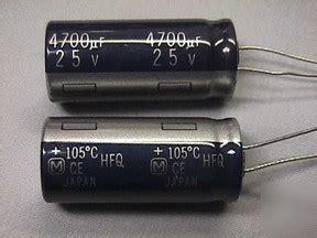 20 panasonic hfq 4700uf 25v 105c electrolytic capacitor