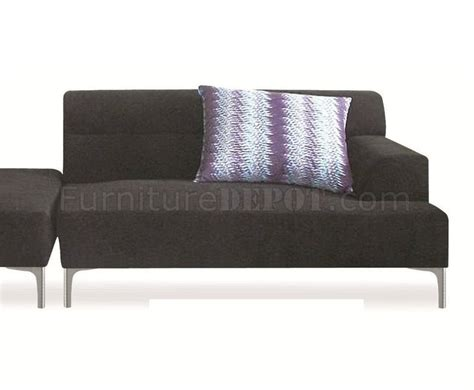 Black Fabric Sectional Sofa Manhattan 421009 Sectional Sofa In Black Fabric By New Spec