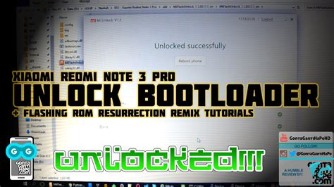 tutorial flash redmi note 3 pro tutorial sederhana unlock bootloader xiaomi redmi note 3
