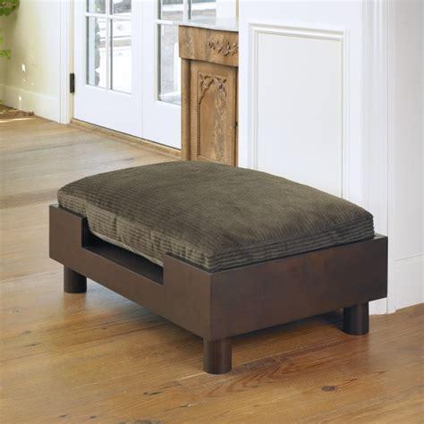platform dog bed wooden platform dog bed mission hills furniture